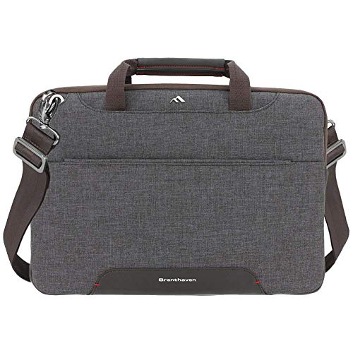 Brenthaven Collins Carry Case, 14 inch Convertible Sleeve for Surface Laptop, Surface Pro 6, 5, 4, 2-in-1 Device, Business and Office Essentials - Graphite, Durable, Rugged Protection from Compression