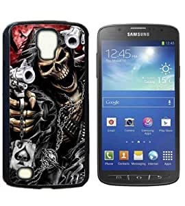 Skull Devil Diablo Hard Plastic and Aluminum Back Case for Samsung Galaxy S4 Active I9295 With 3 Pieces Screen Protectors