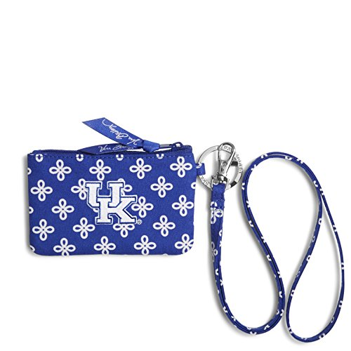NCAA Kentucky Wildcats Women's Zip ID Lanyard, Royal/White, One Size (Wildcats Purse)