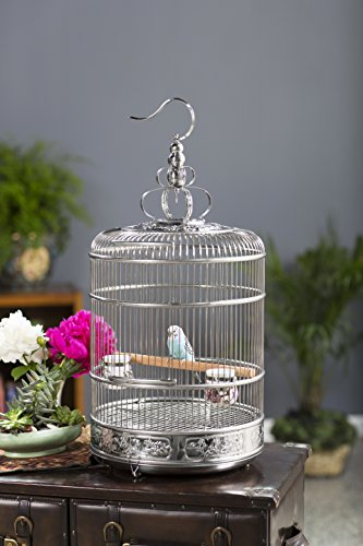 Prevue Pet Products Lotus Stainless Steel Bird Cage 150, Stainless Steel