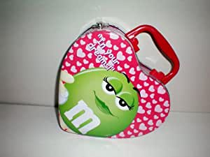 "M&M Purse or M & M Lunchbox Lunch Box [""In Your Dreams"" Green M&M on one side, ""Be Mine!"" Red M&M on one side]"