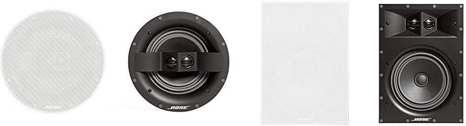 Bose 742897-0200 Virtually Invisible 791 in-Ceiling Speaker II (White) Bundle with Bose Virtually Invisible 891 in-Wall Speaker- Pair (White) - 742896-0200