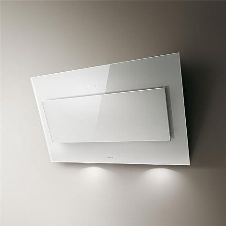 Campana Cocina Elica pared vertigo cristal blanco 90 cm: Amazon.es: Grandes electrodomésticos