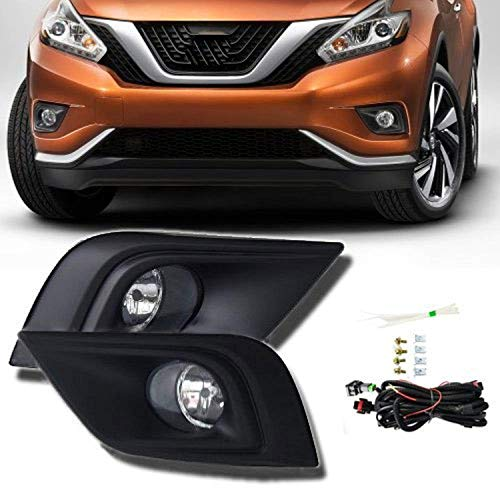 Remarkable Power FL7066 Fit For 2015 2016 Nissan Murano Front Pair Fog Lights Bumper Lamps Kit