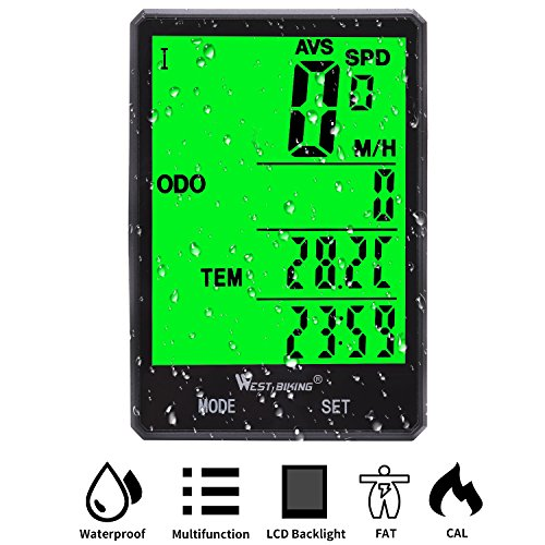 Cheap Cycle Computer, Bike Odometer Speedometer for Bicycle, Waterproof LCD Automatic Wake-up Backlight Motion Sensor for Biking Cycling Accessories