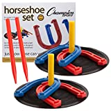Champion Sports. Rubber Horseshoe Set