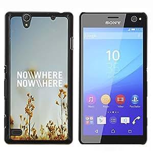 YiPhone /// Prima de resorte delgada de la cubierta del caso de Shell Armor - En ninguna parte del campo del verano Cielo azul Naturaleza - Sony Xperia C4
