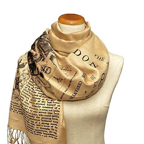 Don Quixote Scarf Shawl Wrap, Book scarf,