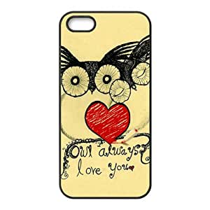 Happy Lovely owls unique durable fashion Cell Phone Case for Iphone 5s