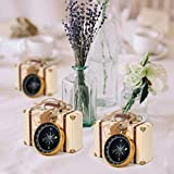CUSFULL 50Pcs Compass Pendant Wedding Favors for