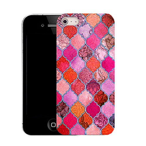 Mobile Case Mate IPhone 4 4S clip on Dur Coque couverture case cover avec Stylet - pink equanimity Motif