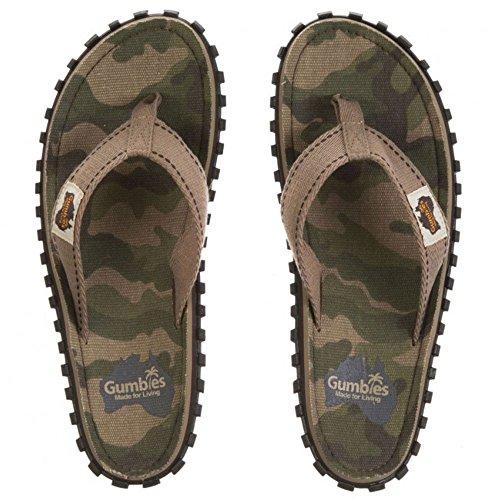 GUMBIES Flip Flops Unisex, Camouflage, Größe 36
