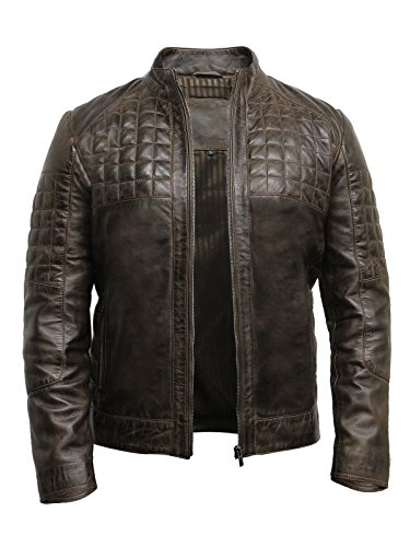 quilted leather jacket - 5