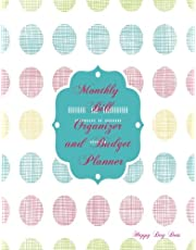 Monthly Bill Organizer and Budget Planner- Happy Day Dots: Extra Large 8.5 x11 Budget Book with Motivational Quotes