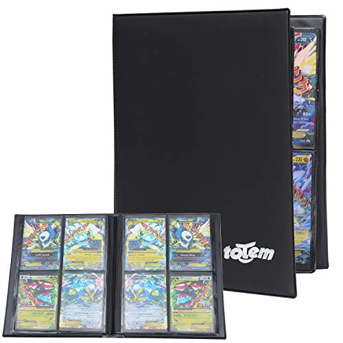 Totem World Collectors Trading Binder for Standard Magic MTG Pokemon Card Side Loading Perfect for Card Playset in 2 x 2 Dualrow