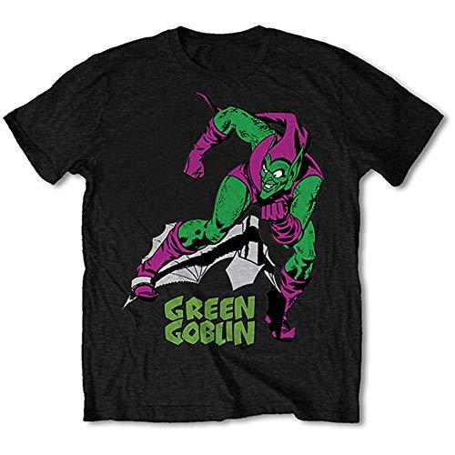 (Rockoff Trade Men's Green Goblin Short Sleeve T-shirt, Black, Large)