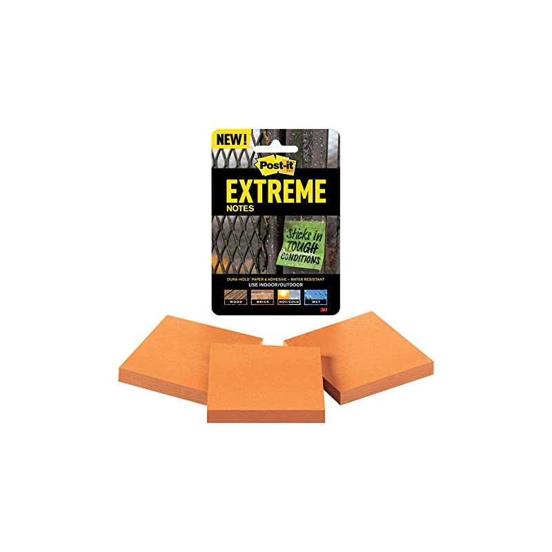 Post-it Extreme Notes, Water Resistant,