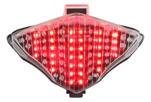 (Integrated Sequential LED Tail Lights Clear Lens for 2004-2006 Yamaha YZF R1)