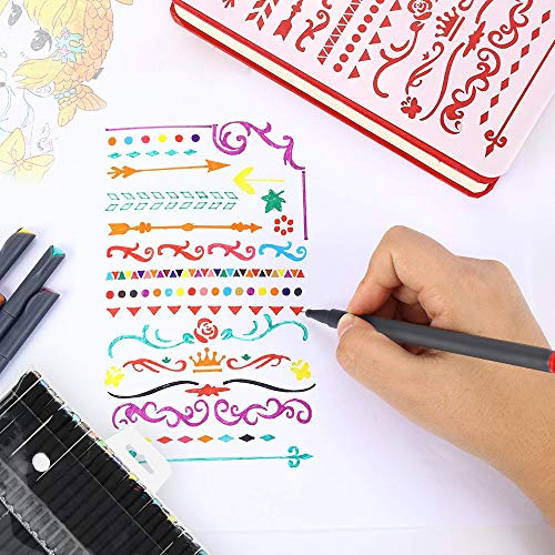 Journal Planner Pens Fineliner Point Markers Colored Pens Set Drawing Pens for Bullet Journaling Writing Note Taking Calendar Coloring Art Office School Supplies, 24 Colors