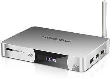 HiMedia Q5-II 3D - Decodificador Smart TV Full HD Android 4.2 / Reproductor 3D Hisilikon 3D BD-ISO + Soporte de Audio 7.1 HD, HDMI 1.4, LAN, Wifi: Amazon.es: Electrónica