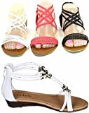 DEV Girls Kids Multi Color Roman Thong Gladiator Sandals Flats Strapy Shoes