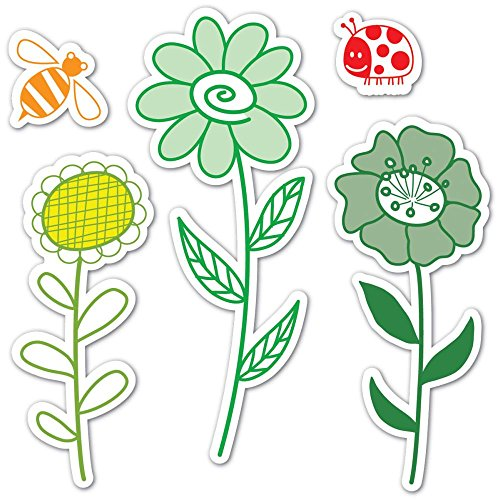 Sizzix Framelits Die Set 5PK with Stamps - Garden Flowers by Hero Arts