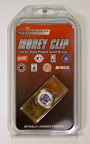 Rico Sacramento Kings NBA Licensed Gold Plated Money Clip