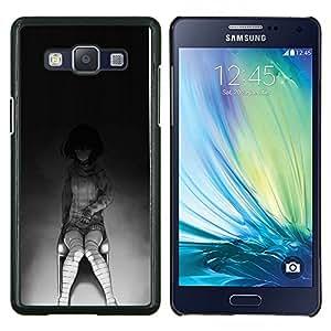 Caucho caso de Shell duro de la cubierta de accesorios de protección BY RAYDREAMMM - Samsung Galaxy A5 A5000 - Creepy Chica Emo