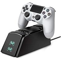 Suporte Base Dock Carregador duplo com Led Para controle de PS4 - KinGo
