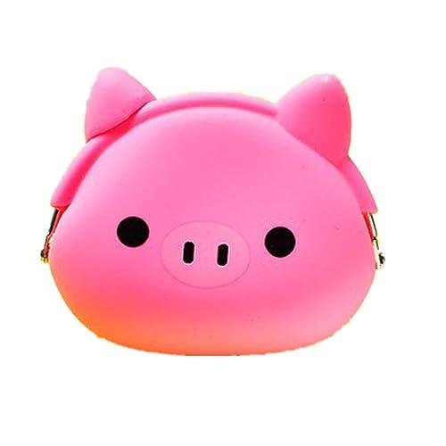 zarupeng Mini monedero suave superficie sujetador bolsa de la moneda de silicona de dibujos animados femenino