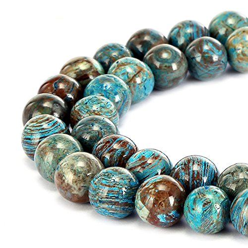 Gorgeous Natural Crazy Blue Lace Agate Gemstone Smooth Round Loose Beads 15.5 inch For Jewelry Making (8MM)