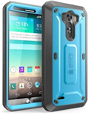 Amazon.com: SUPCASE - Funda para LG G3, Azul/Negro: Cell ...