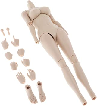 Super Flexible Joints, 12 inch Female Body Action Figure Full Set Accessories