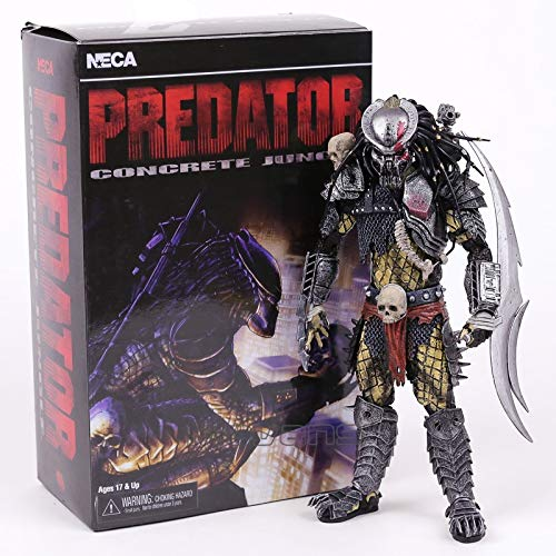 PAPWELL Predator Action Figure 8 inch Hot Toys New Concrete Predators Figures The Ultimate Mini Small Movie Series PVC Toy Christmas Collectibles Halloween Collectable Gifts Collectible Gift for Kids
