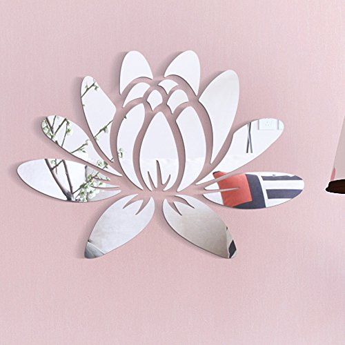 2019 3D Modern Mirror Flowers Vinyl Removable Wall Sticker Decal Home Decor Art DIY Fashion Decoration Chaofanjiancai -