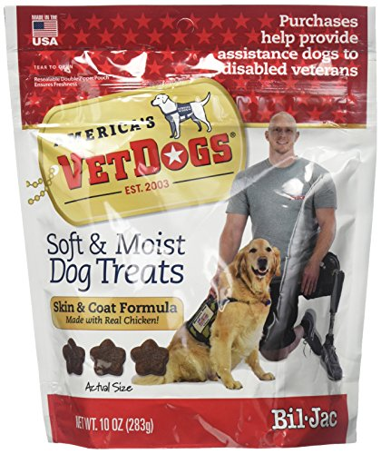 Bil-Jac (6 Pack) America's Vet Dogs Skin and Coat Dog Treats, 10 Ounces Each ()