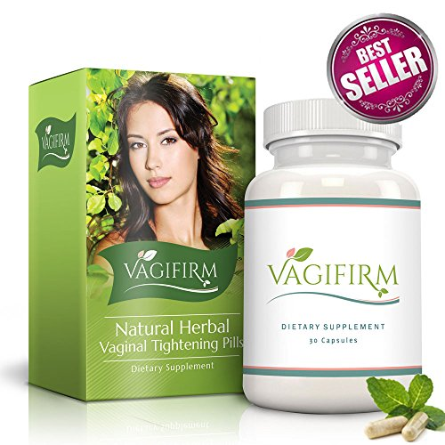 Vagifirm Vaginal Tightening Pills - All Natural Herbal Supplement for Women's Sexual Enhancement, Health, Lubrication and Libido. (1 Month Bottle (Pills 1 Month Supply)