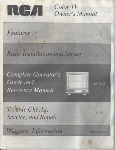 RCA Color TV Owner's Manual E13153WN ()