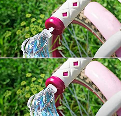 Kids Children Scooter Streamers Bike Handlebar Colourful Streamers Pom-pom Pair Bicycle Grips Sparkle Tassel Ribbon Baby Carrier Accessories for Girls Boys