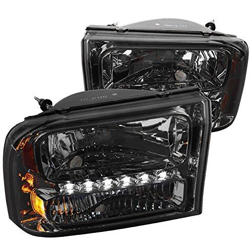 1 Piece Headlights Euro (Spec-D Tuning 2LH-F250991PCG-RS Smoke Headlight (1 Piece Euro With Led))