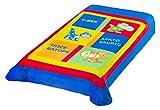 Colchas Concord CLTI0085 Cobertor Ultrasuave Baby Dino, color Azul, Individual