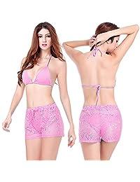 BP02 Sexy Bikini Swimwear Party Short Pants Lace Cover-ups Wrap Beach Shorts