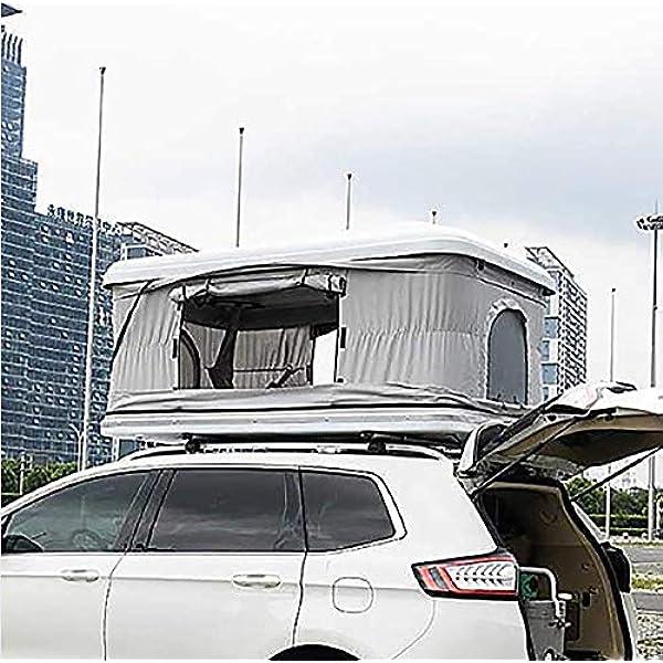 Techo del Carro Tienda 2-3 Adultos Impermeable Automotriz Tienda en la azotea ABS Toldos Toldos Equipo de Camping con Escalera de extensión y Luces LED: Amazon.es: Deportes y aire libre