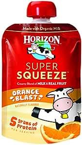 Horizon Organic Super Squeeze Pouch, Orange Blast, 4 Count