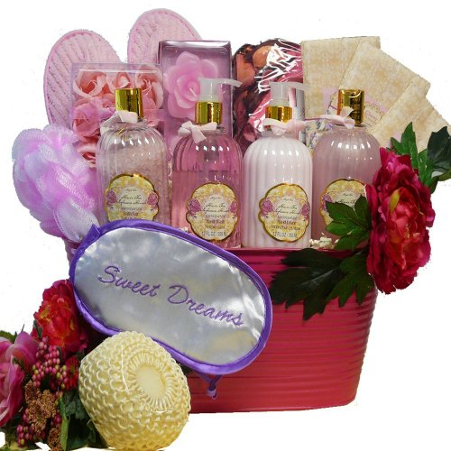 Peony Scented Sweet Dreams Spa Bath and Body Gift Basket Set
