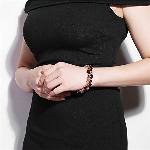 ブレスレット 18センチメートルファッションモナリザローズゴールドカラフルなジルコンビーズfahsionブレスレット