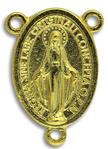Gifts Catholic, Inc. LOT of 10 - Miraculous Medal Mary Rosary Centerpiece 1