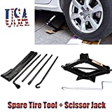 ford jack tool kit - Autobaba Spare Tire Tool Kit Tire Changing Repair Kit and 2T Scissor Jack with Speed Handle for Ford F150 2004-2014