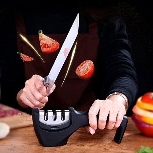 Kitchen Knife Sharpener Machine, Manual Chef Knife Sharpener