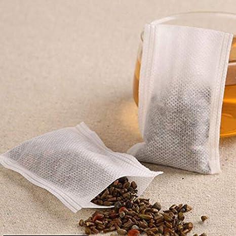 100 bolsas de té vacías con cordón para té, hierbas, bolsas ...